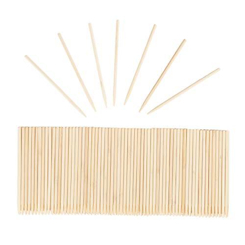 Wood Stylus - 200-Pack Wooden Scratch Art Tools, 0.2 x 5.5-Inch Wood Art Sticks, for Kids DIY Craft, Multi-Purpose