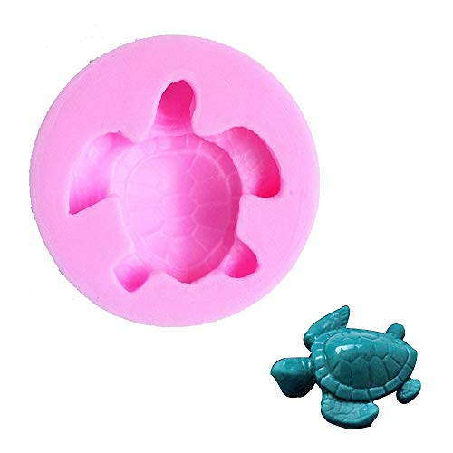 Efivs Arts EA162 Sea Turtle Shaped Silicone Candy Fondant Chocolate Making Mold Cake Decorating -