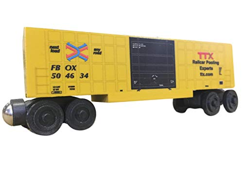 Whittle Boxcar - Whittle Shortline Railroad - Manufacturer TTX Series 44 Boxcar - Wooden Toy Train