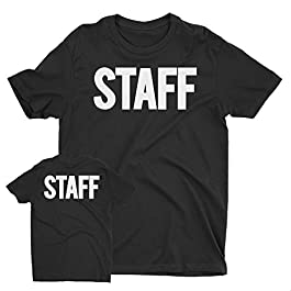 Men's Staff T-Shirt Screen Printed Tshirt