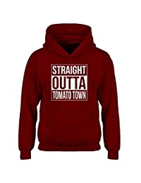 Indica Plateau Straight Outta Tomato Town Kids Hoodie