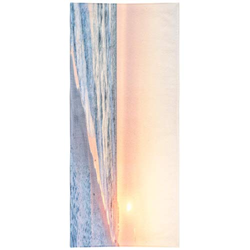 LILYMUA Sea Wave Quick Dry Beach Towel,Microfiber Beach Towel, Pink Peach Orange Sunset Santa Beach Florida with Coast Beach Blanket 30