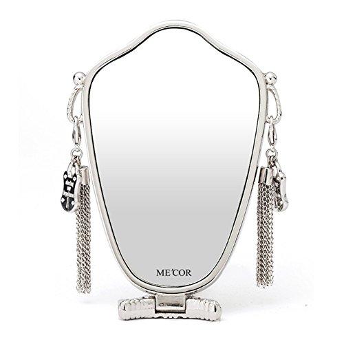 cosmetic mirror/European-style luxury metal mirror/ mirror in the Office/ lock the folding handle mirror/ birthday gift by FSHFK