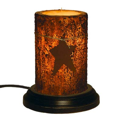 CR Designs Grubby Star Candle Sleeve with Black Round Candle Base