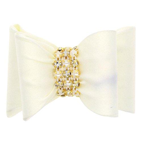 FEITONG(TM) Baby Girls Fashion Bowknot Hairpin Headdress (Beige)