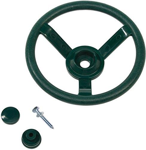 Kids Steering Wheel Solid Plastic For Children's Climbing Frames or Tree Houses - Dark Green. Little Duck Bear Ltd