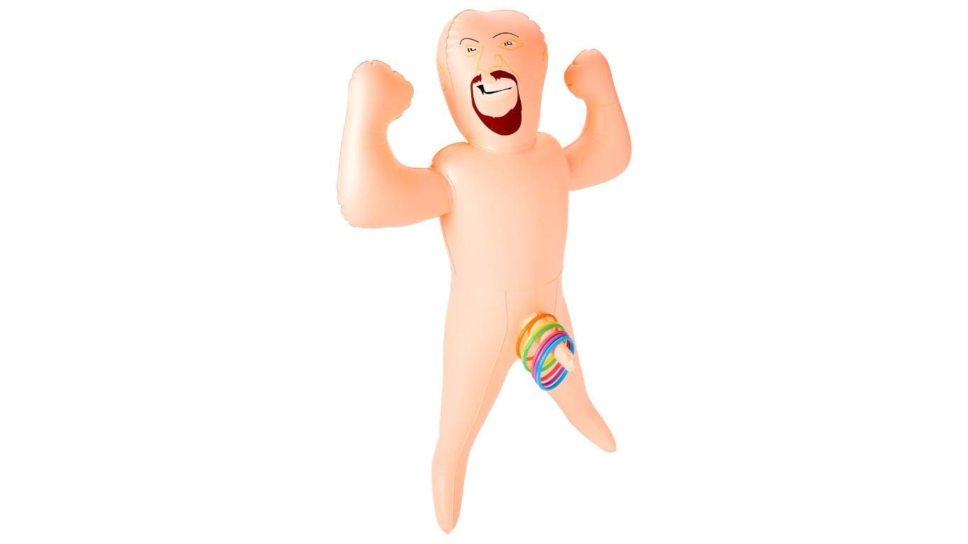 Bachelorette Party Favors Game Midget Man Inflatable Ring Toss Dirty Version of Ring Toss Game by Generic (Image #1)