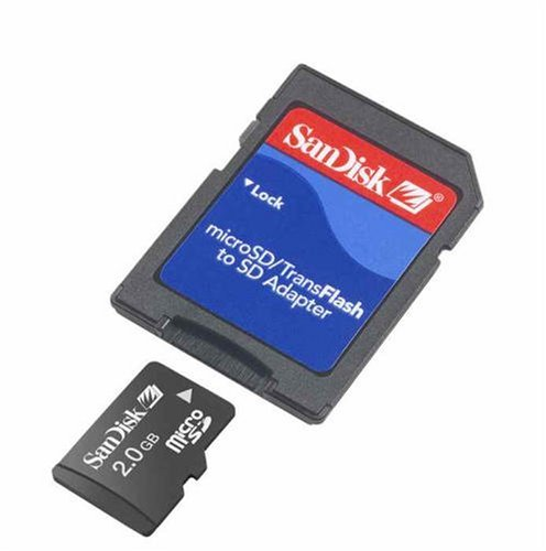 Sandisk 2GB MicroSD TransFlash Memory Card for HTC 8925 Touch Shadow Motorola Z6TV Samsung A737 A736 A747 i617 T539 T639 U700 Gleam Pantech C810 ()