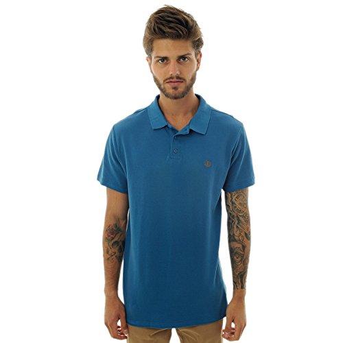Camiseta Polo Element Logo - Azul - M