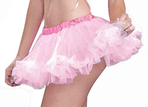 Micro Mini Costumes (Forum Novelties Women's 10-Inch Accessory Micro Mini Crinoline, Pink, One Size)