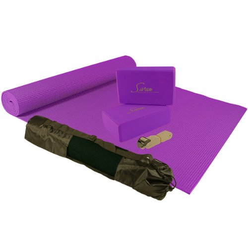 Sivan Health & Fitness 5 Piece Essentials Yoga Beginners Kit