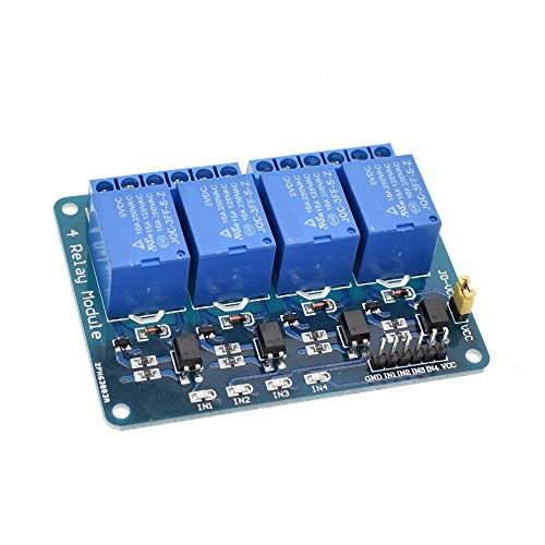 1pcs 4 Channel Relay Module 5V with optocoupler Protection 4 Way Relay Expansion Board for MCU Development Board Supports AVR/51/PIC microcontroller with optocoupler Isolation