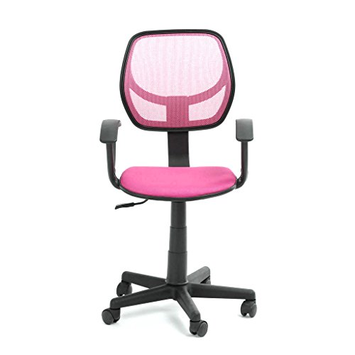 Charmant Pink Student Task Chair With Arms Greenforest Pink Height