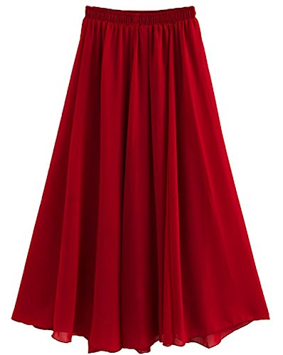 CoutureBridal - Falda - trapecio - para mujer borgoña