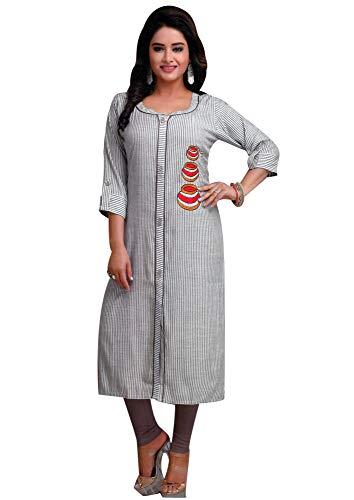 ladyline Kurtis for Women Cotton Tunic Top Indian Kurta Dress