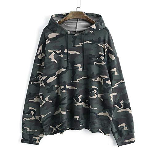 Autunnosonnena Up verde donna Fashion Fashion 2018 Lace Army shirt Top Camicia lunga T manica Camicetta Street mimetica dCBoQxerW
