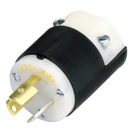 3w Plug 2p 15p (Plug, 125VAC, 15A, L5-15P, 2P, 3W, 1PH)