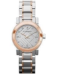 Burberry Heritage Grey Dial Two-tone Stainless Steel Ladies Watch BU9214