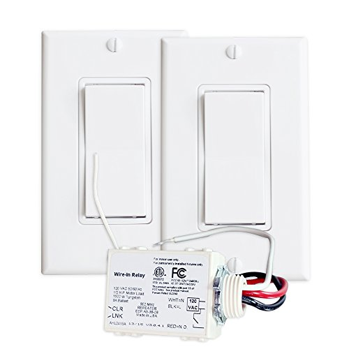 RunLessWire 3-Way Wireless Switch Kit: Control a light source from two separate points with real light switches. No pulling wires, ripping out walls, or dealing with complex wiring configurations. 3 Way Switch Two Lights