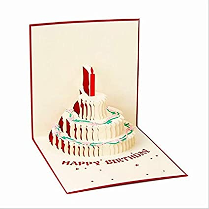 small chipinc new 3d cake happy birthday pop up cards wedding gift greeting card - Happy Birthday Pop Up Card