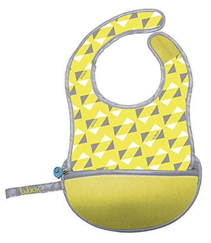 Price comparison product image b.box Travel Bib and Flexible Soft-Bite Spoon I Cactus Capers Pattern I Adjustable Neck Strap I BPA-Free I Phthalates & PVC Free I Machine Washable I Folds up into its own Pouch