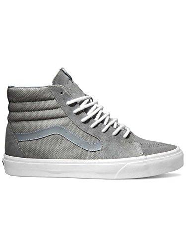 Vans Men's Sk8-Hi (Hemp) Monument/True White Skate Shoe 10 Men US / 11.5 Women US