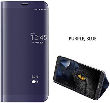 COVO® Funda para Huawei Mate 10 Lite Espejo Flip Case Espejo Reflexión Brillante Ultra Fino Duro Anti-Scratch de Carcasa para Huawei Mate 10 Lite(Púrpura): Amazon.es: Electrónica