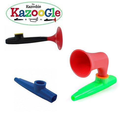 Kazoo Fun Pack - x3 - Green Plastic Kazoo, Wazoo Kazoo, Kazoogle Kazoo by Kazoo_Pack (Image #1)