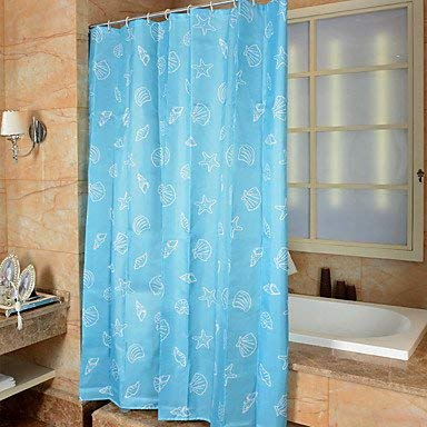 Amazon XIE Cartoon Mediterranean Polyester Shower Curtains