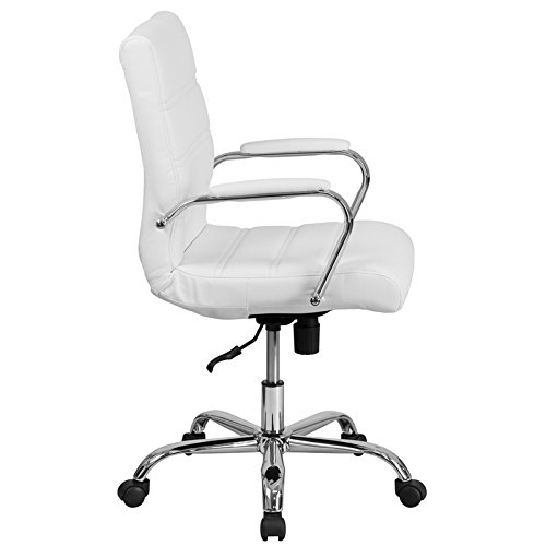 Kenwood LE Mid-Back Leather Executive Swivel Office Chair with Chrome Base and Arms by Kenwood Furnishings (Image #1)