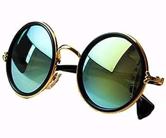 niouxhc unisex 39 s round mirror polycarbonate sunglasses clothing. Black Bedroom Furniture Sets. Home Design Ideas