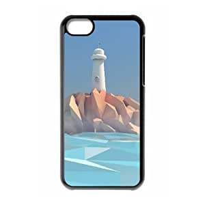 Customized Durable Case for Iphone 5C, Lighthouse Phone Case - HL-R649302