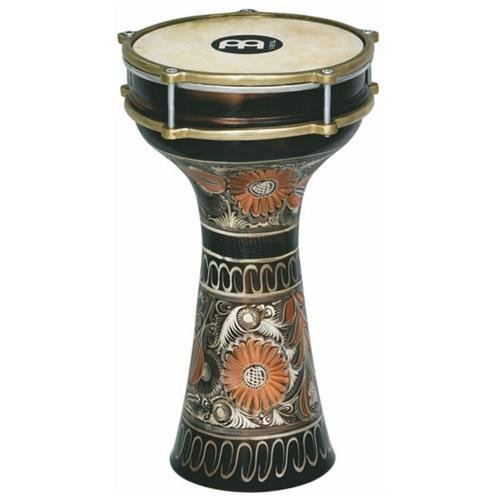 Meinl Percussion HE-205 Hand Engraved Copper Darbuka With Natural Rawhide Head, 7 7/8-Inch by Meinl Percussion