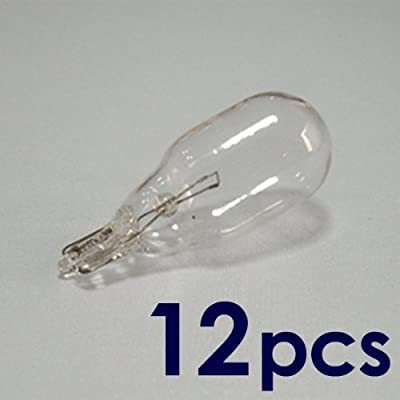 12-Pack 12V 18W T5 Wedge Base Replacement Bulb, T5, Low Voltage, 12XT5-12V-18W