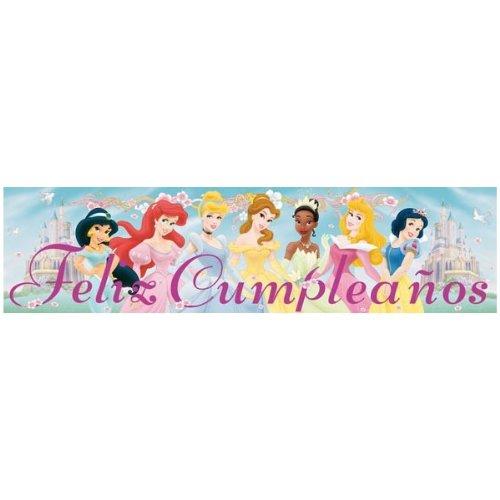 Cartel Feliz cumpleaños Disney Princesas: Amazon.es ...