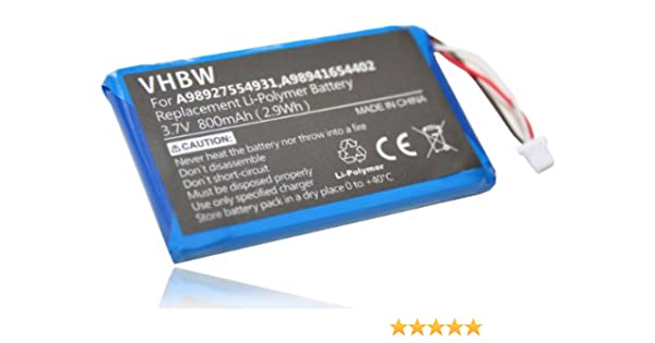 Batería vhbw 800mAh (3.7V) para eBook Reader Sony Portable Reader ...