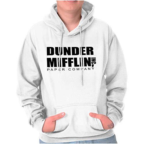 Brisco Brands Dunder Paper Company Mifflin Office TV Show Hoodie ()