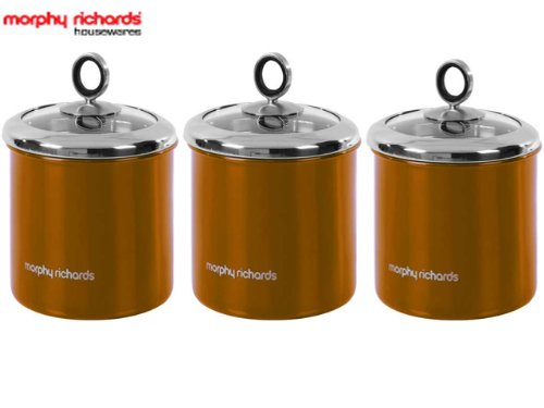 NEW MORPHY RICHARDS 3 PIECE TEA COFFEE SUGAR KITCHEN STORAGE CANISTERS  SPICE JAR POT SET COPPER: Amazon.co.uk: Kitchen U0026 Home