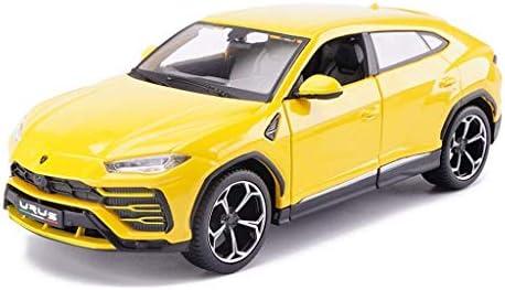 YN モデルカー 黄色のモデルカーランボルギーニクロスカントリースポーツカーUrus SUVモデルシミュレーション合金カーモデル1:24スタティックモデル子供のおもちゃコレクション車のファン ミニカー