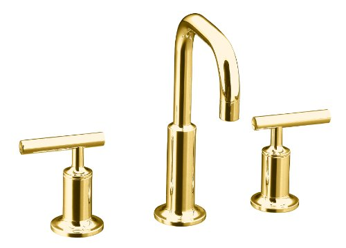 Kohler Polished Gold Widespread Faucet Widespread