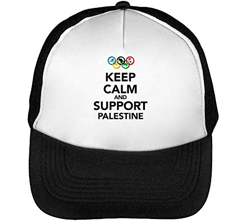 Beisbol Keep Palestine Blanco Hombre Negro Support Calm Gorras Snapback wzpUzqYx