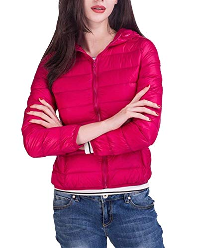 Sólidos Larga Rose Coat Invierno Colmar Manga Acolchado Cortos Otoño Vintage Abrigo Moda Outerwear Cremallera Plumas Mujer Ropa Cálido Colores Casuales Chaquetas Elegantes Abrigos wSxBqaXn