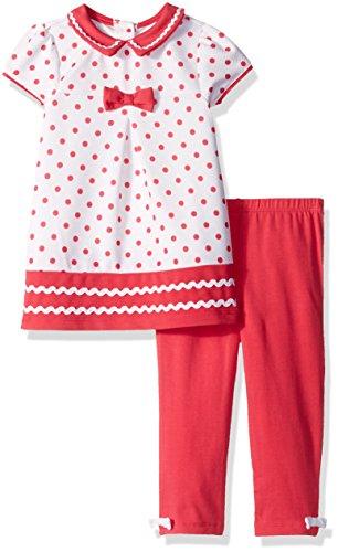 Little Me Baby Girls Short Sleeve Fashion Knit Dress with Legging