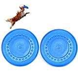 Vivianbuy 7'' Diameter Rubber Frisbee Flying Discs Dog Toy for Puppy, Outdoor Fetch Frisbee with Food Storage for Dog