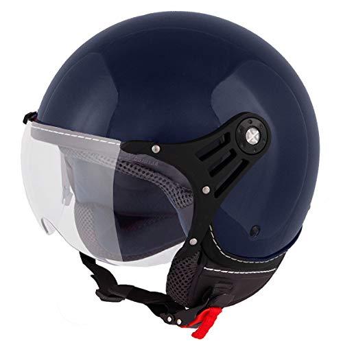 Vinz Stelvio Jethelm Roller Helm Fashionhelm   In Gr. XS-XL   Jet Helm Uni Colour   ECE Zertifiziert   Motorradhelm mit…
