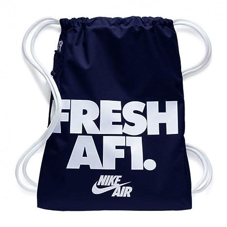 Nike Nk Heritage Gmsk 1 - GFX Bolsa de Cuerdas para el Gimnasio, Azul (