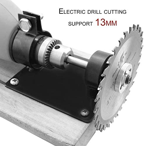 13mm Electric Drill Cutting Holder Polishing Grinding Bracket Seat Stand/—Black()