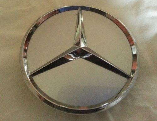 "Deal on Wheels Mercedes Benz Center Cap Silver chrome 3"" dia"