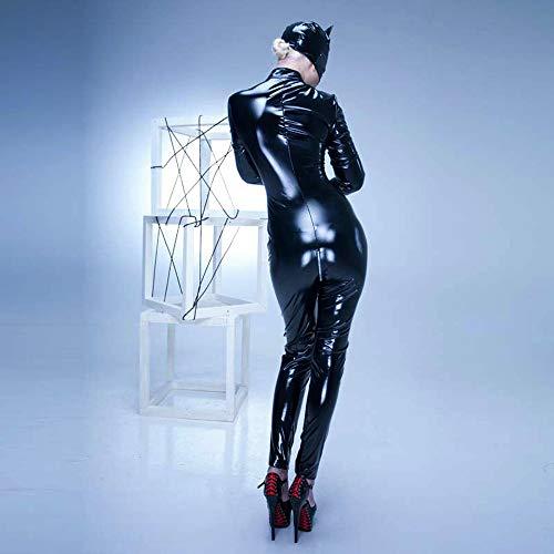 Catwoman En Femmes Singe Xsqr Cuir Halloween Noir Des Avec Costume wtZBddWAq4