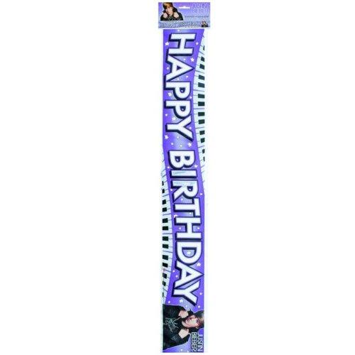 Unique 193171 12 ft. Justin Bieber Foil Banner